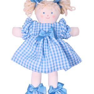 Mini Pen 21cm Rag Doll Blue Designed by Kate Finn