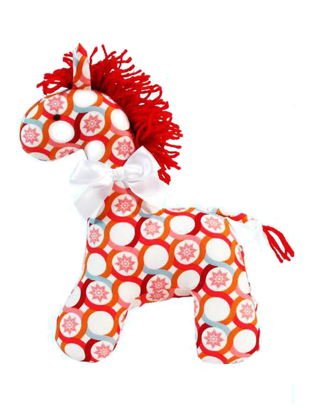 Persimmon Horse Baby Toy Sold by Kate Finn
