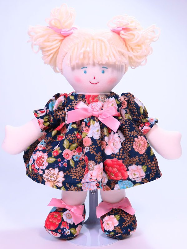 Mia 28cm Rag Doll Designed and Sold by Kate Finn Australia