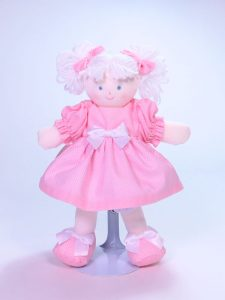 Mini Dottie 21cm Rag Doll Pink