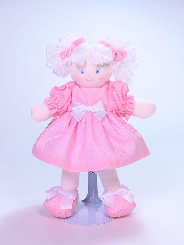 Mini Dottie 21cm Rag Doll Pink