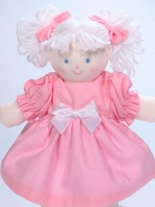 Mini Dottie 21cm Rag Doll Pink by Kate Finn