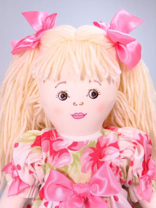 Allyson 47cm Rag Doll Designed and Sold by Kate Finn Australia