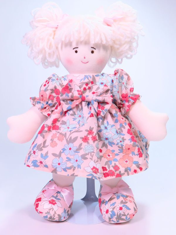 Peaches 28cm Rag Doll Designed and Sold by Kate Finn Australia