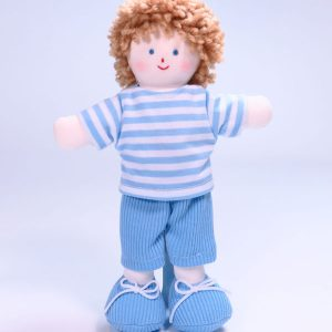 Mini Jim 21cm rag Doll Designed and Sold by Kate Finn Australia