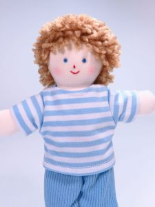 Mini Jim 21cm rag Doll by Kate Finn Australia