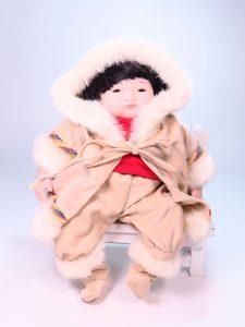 Eskimo Child 35cm Porcelain Doll by Pauline Bjonness-Jacobsen