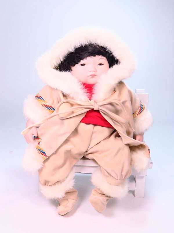 Eskimo Child 35cm Porcelain Doll by Pauline Bjonness-Jacobsen