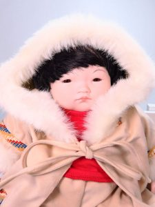 Eskimo Child 35cm Porcelain Doll by Pauline