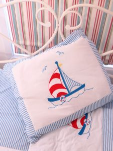 Sailboat Pillow Desgned and Sold by Kate Finn
