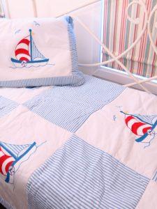 Sailboat Single Bed Quilt Designed by Kate Finn Australia