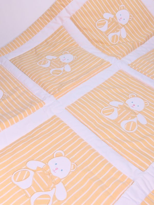 Yellow Bear Cot Quilt Designed by Kate Finn Australia
