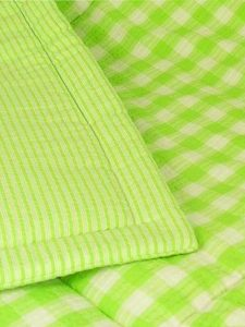 Lime Check Cot Quilt Designed by Kate Finn