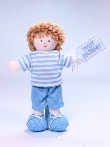 Mini Jim 21cm Rag Doll First Birthday by Kate Finn Australia