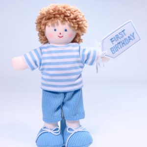 Mini Jim 21cm Rag Doll First Birthday by Kate Finn Australia