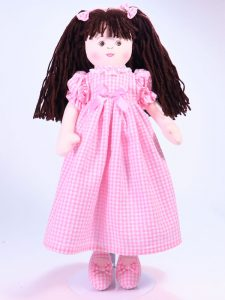 Susannah 47cm Rag Doll Brunette Designed and Sold by Kate Finn Australia
