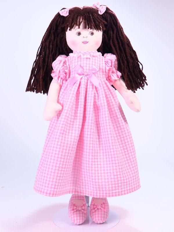 Susannah 47cm Rag Doll Brunette Designed and Sold by Kate Finn Australia