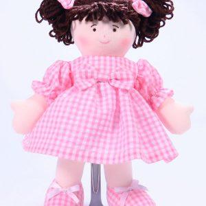 Sweetie 28cm Rag Doll Brunette Designed and Sold by Kate Finn Australia