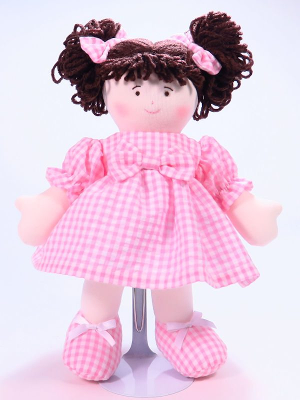 Sweetie 28cm Rag Doll Brunette Designed and Sold by Kate Finn Australia