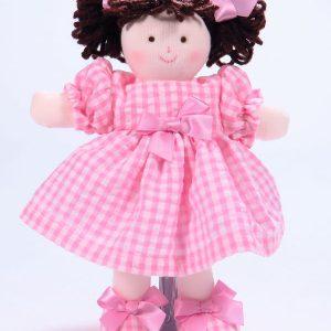 Mini Pen 21cm Rag Doll Brunette Designed and Sold by Kate Finn Australia