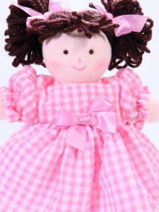 Mini Pen 21cm Rag Doll Brunette Sold by Kate Finn Australia