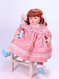 Amanda 42cm Porcelain Doll by Pauline Bjonness-Jacobsen
