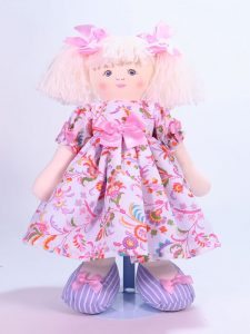 Lily 39cm Rag Doll Designed and Sold by Kate Finn Australia