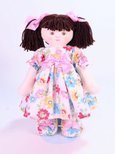 Matilda 39cm Rag Doll Brunette Designed and Sold by Kate Finn Australia
