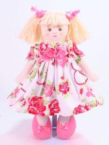 Valentina 39cm rag Doll Designed and Sold by Kate Finn Australia