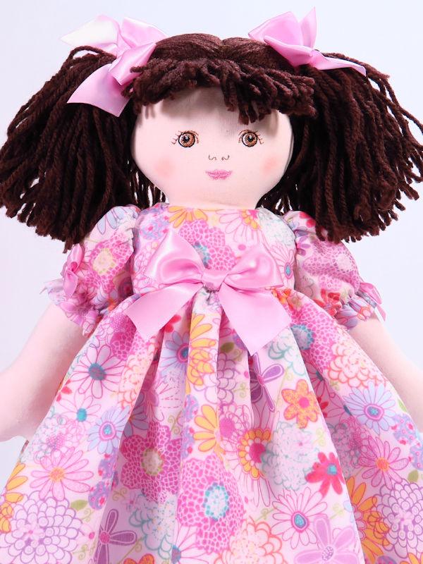 Julia 39cm Rag Doll Brunette by Kate Finn